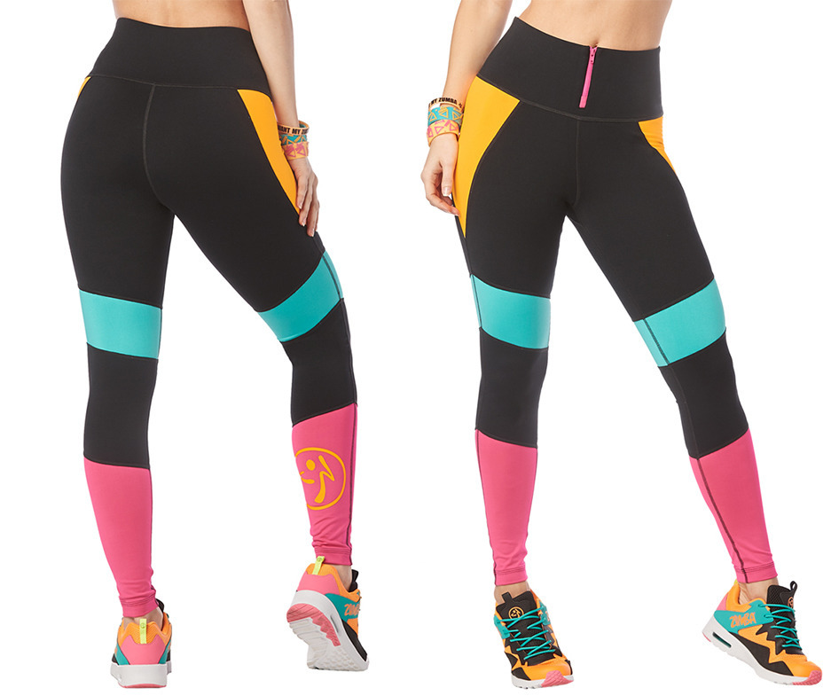 I Want My Zumba High Waisted Leggings Schwarz