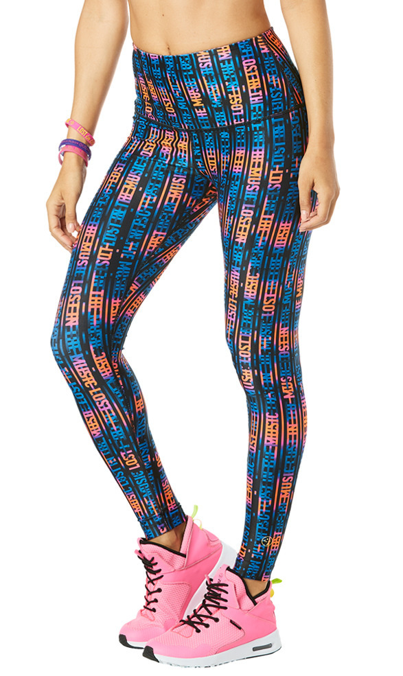 d5ddc36b616b84 Damen: Lost In The Music High Waisted Ankle Leggings Pink